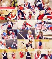 Cosplay Independencia US y UK random by MyobiXHitachiin