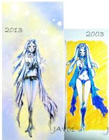 shiva - before and after by zelldinchit