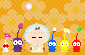 Cpt. Olimar and Pikmin - SP by Dosu