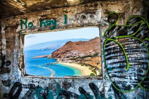 Teresitas Beach Through A Window by BenHeine