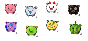Free Adoptable Piglets [Closed] by TragediaIrk