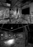 Asylum: Furnace and Operation Room by lordless