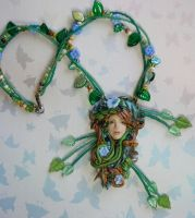 Garden Goddess Necklace by elvenelysium