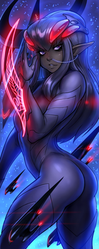 Drowtales Space Age: Nekocon 2014 banner by blackmyst