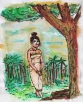Waiting Watercolour by tarunbanned