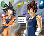 Goku And Vegeta by ShynTheTruth