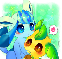Request - Leafeon and Glaceon by D685ab7f-pis