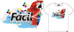 Camiseta Facil impress by thiagomic