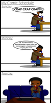 TXD: My Comic Schedule by UncleWoodstock