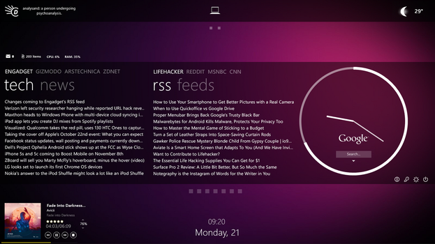 Rainmeter with Omnimo 6 - Shot 3 by LuminaryDragon