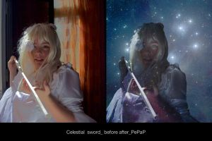 Celestial  sword_ before after by PePaP