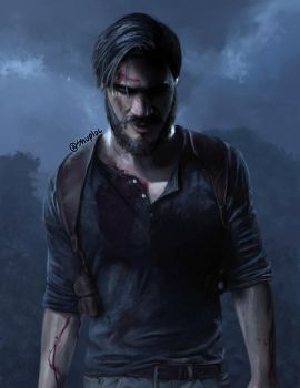 PewDiePie as Nathan Drake (Uncharted 4) by Shuploc