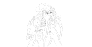 Applejack vs. Rarity WIP by N7Operative