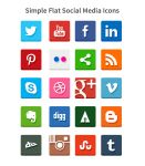 Simple Flat Social Media Icons (PSD and PNG) by softarea