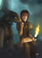 Toothless and Hiccup by DreamyNatalie