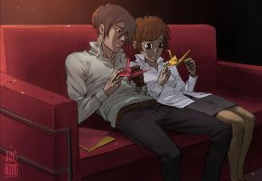 Psycho-pass: Akane and Gino by Jane-Sonne