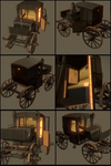 3D Victorian(Brougham) Carriage by iDrix