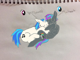 Vinyl Scratch x Mix Heart by Anna James and Andrew by Synthasis8