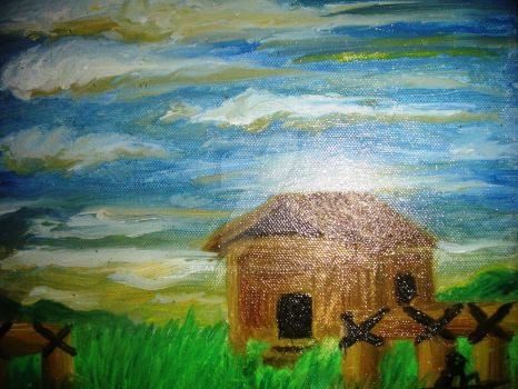 THE HOUSE I LOVED on oil paint by STEAMMAN