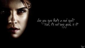 Harry Potter Wallpaper : Hermione Quote! v3 by TheLadyAvatar
