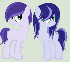 Purple Twins by Paintingpone