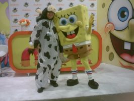 Inflatable Cow With Spongebob Squarepants by Surferbrg