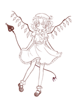 Flandre Scarlet sketch by criis-chan
