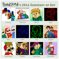 Summary of Art 2014 by BoredStupid100