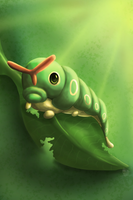 Caterpie by Cinnamon-Quails