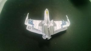 Company Auction Logo on Origami X-Wing by taerkitty