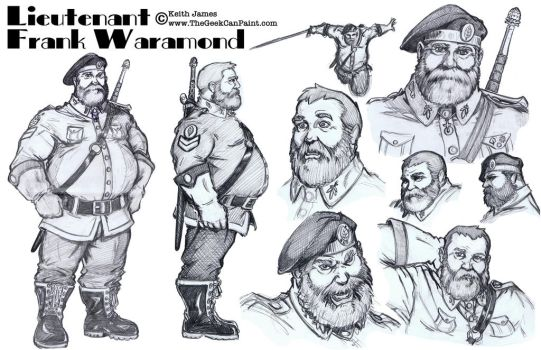 Frank Character Sheet by TheGeekCanPaint