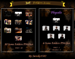 INKT Band Folders Icons [PACK] by Sunako1582