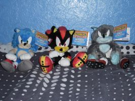 Sonic Shadow and Werehog Plush by DarkGamer2011
