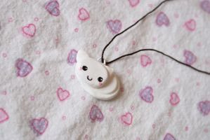 White Kitty Charm by saraneth672