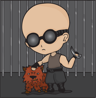 Riddick and Hell Hound March28 by Chibi-Fukurou