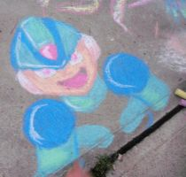 Megaman X in chalk by KingofAnime-KoA