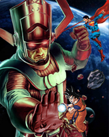 Galactus vs Goku and Superman by Tony-Antwonio