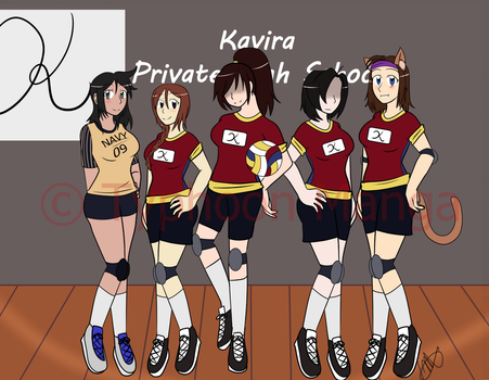 Sport Fever! Volley Ball Team Photo by Typhoon-Manga