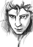 Glaring Adam sketch by klmiller1991