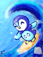 Daily Doodle 9 - Piplup by MurdererDelacroix