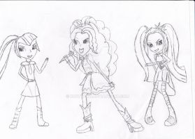 The Dazzlings - Traditional Black and White by Rustypaw