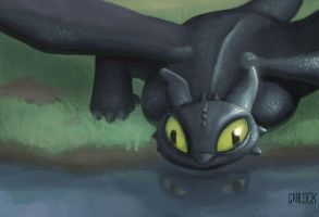 Toothless by MasterCarlock