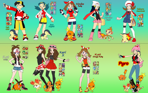 Pokemon Adventure Timeline Thing by DigiFoxCat