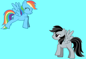 Mlp Fim Stormer Dash and Rainbow Dash by Puffypaw