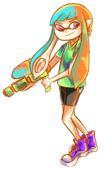 Squid kid by whimsilli