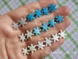 Mismatched Snowflake Earrings - All so far (2013) by FunkadelicPsychoFish