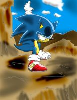 Sonic fighting pose. by Adir