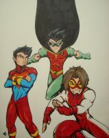 Young Justice: Markers by Vauz