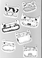 hand drawn tags 7-14 by loveandasandwich