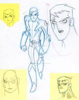 Legion of Superheroes roughs by SpawnofSprang